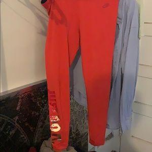 Red Nike leggings